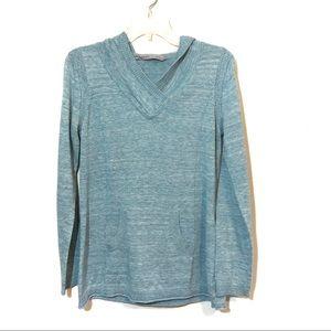 Athleta olema pullover hooded sweater pocket  blue
